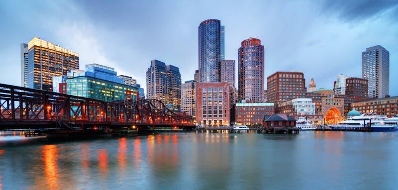 De waterkant van Boston stock afbeelding
