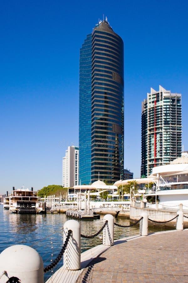 De Waterkant van Brisbane stock foto
