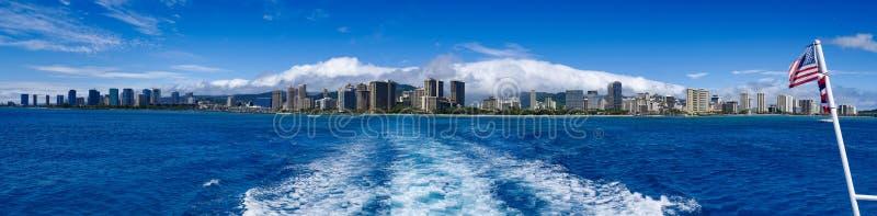 De Waterkant van Honolulu Hawaï stock afbeeldingen