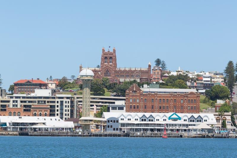De Waterkant van Newcastle, Newcastle, Nieuw Zuid-Wales, Australië royalty-vrije stock foto's