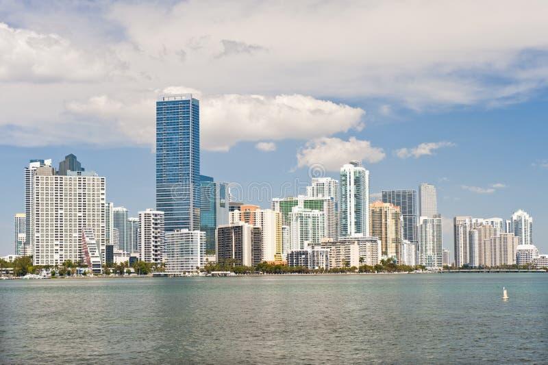 De waterkanthorizon van Miami royalty-vrije stock fotografie