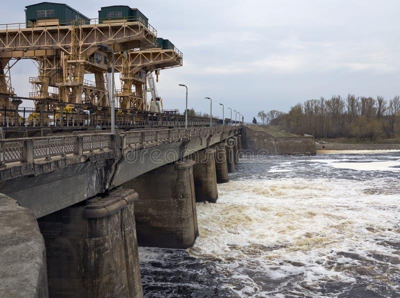 De waterkrachtcentrale van Dubnaivankovo stock afbeeldingen