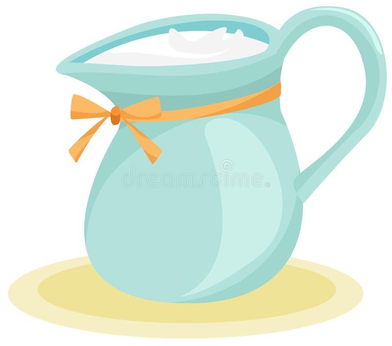 De waterkruik van de melk royalty-vrije illustratie