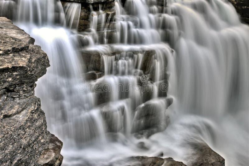 De Waterval Alberta Canada van Athabasca royalty-vrije stock afbeeldingen