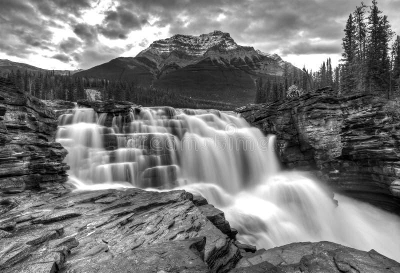 De Waterval Alberta Canada van Athabasca stock foto's