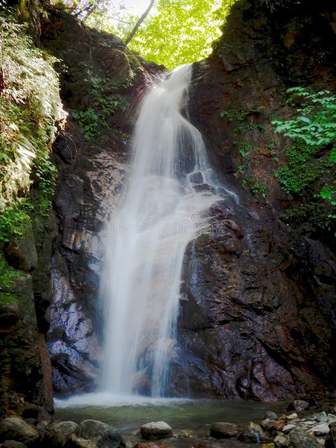 De waterval otaki-Mentaki op de Nakasendo-Road stijging tussen Magome en Tsumago stock afbeeldingen