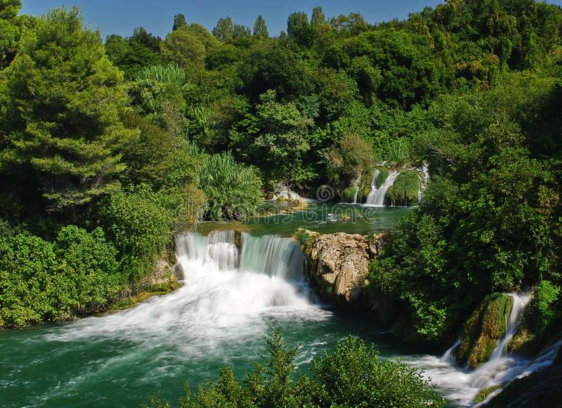 De waterval van Buk van Skradinski stock afbeelding
