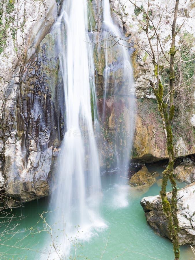 De waterval van de Agurlente in Sotchi royalty-vrije stock afbeeldingen