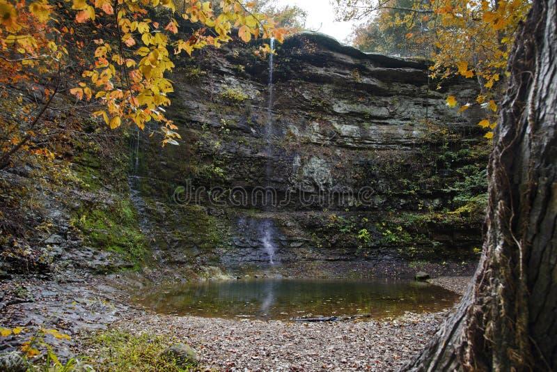 De Waterval van de herfst royalty-vrije stock afbeelding