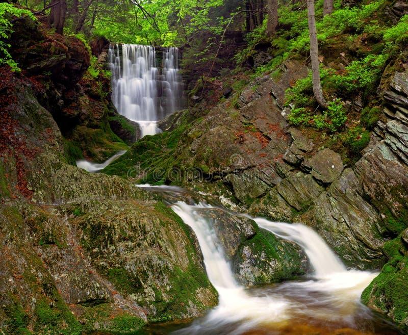 De waterval van de lente royalty-vrije stock afbeeldingen