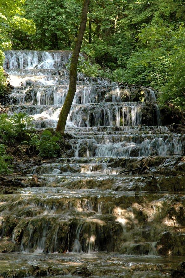 De Waterval van de sluier in de Vallei Szalajka stock fotografie