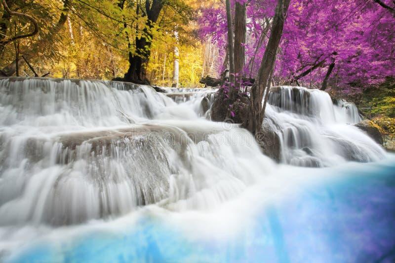 De Waterval van Erawan stock afbeeldingen