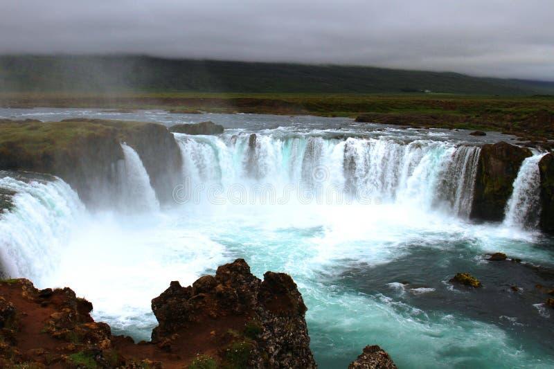 De waterval van Godafoss, IJsland royalty-vrije stock foto's