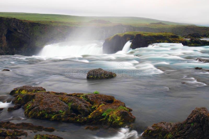De waterval van Godafoss, IJsland stock foto's