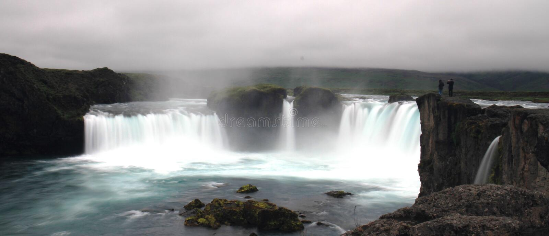 De waterval van Godafoss, IJsland royalty-vrije stock foto