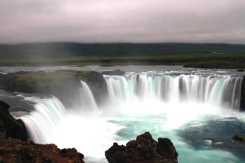 De waterval van Godafoss, IJsland royalty-vrije stock afbeelding