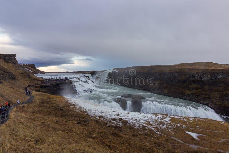 De waterval van de Golf in IJsland royalty-vrije stock afbeeldingen
