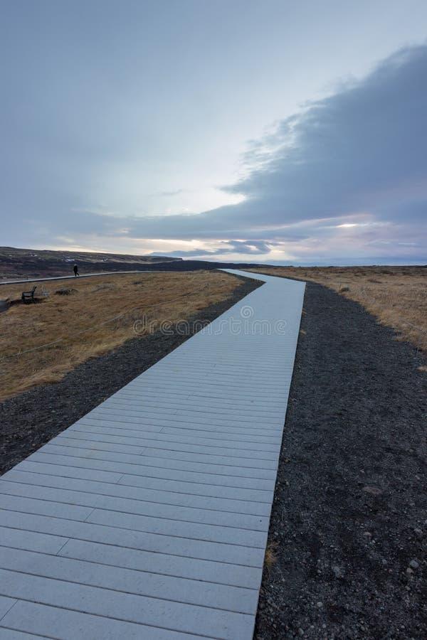 De waterval van de Golf in IJsland stock afbeelding