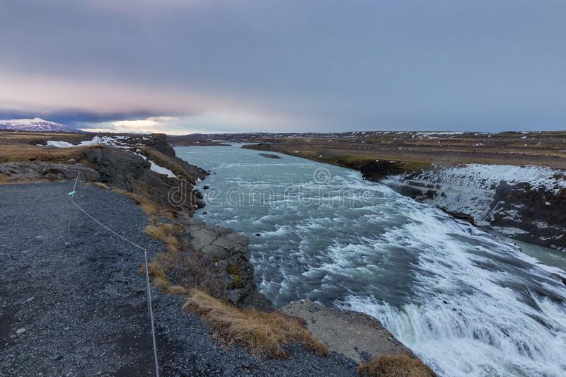 De waterval van de Golf in IJsland stock foto's