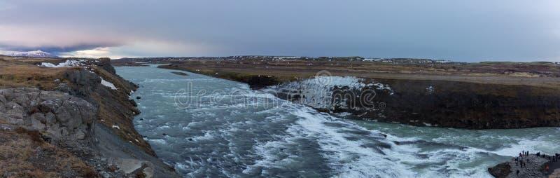 De waterval van de Golf in IJsland stock afbeeldingen