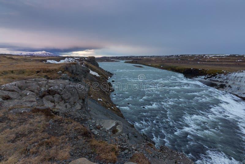 De waterval van de Golf in IJsland royalty-vrije stock afbeelding