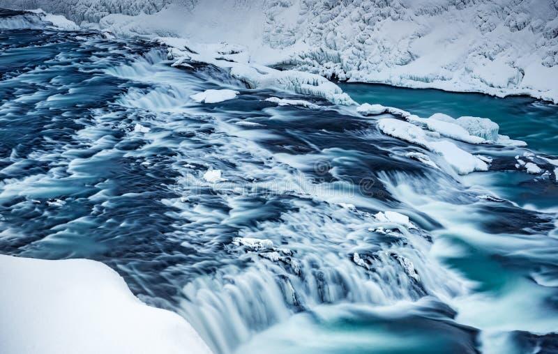 De waterval van Gullfoss stock foto's