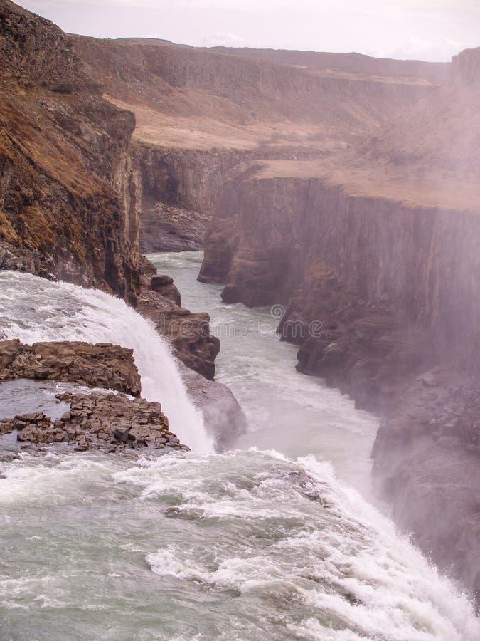 De waterval van Gullfoss, IJsland stock afbeelding