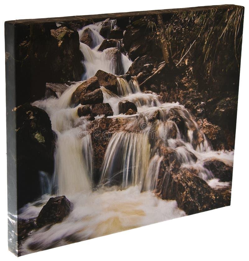 De waterval van het canvas stock afbeelding