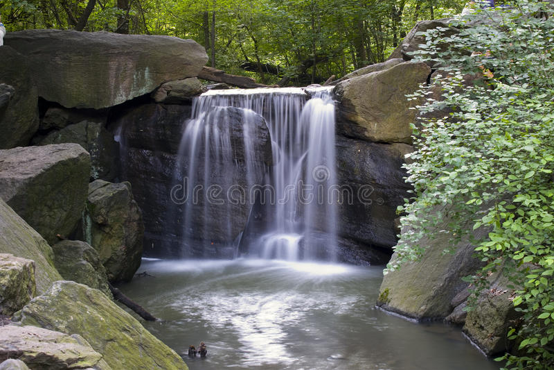 De Waterval van het Central Park royalty-vrije stock foto
