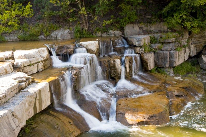 De waterval van het de merengebied van de vinger stock foto