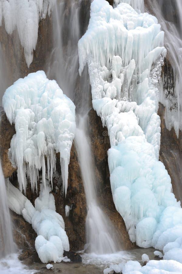 De waterval van het ijs royalty-vrije stock afbeeldingen