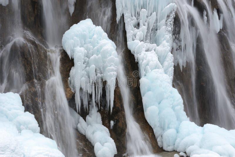 De waterval van het ijs stock afbeelding