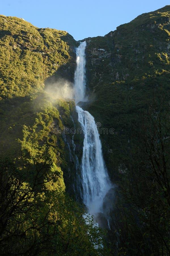 De waterval van het Spoor van Milford stock afbeelding