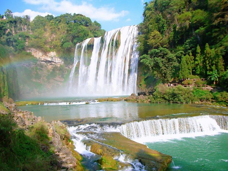 De Waterval van Huangguoshu stock afbeelding