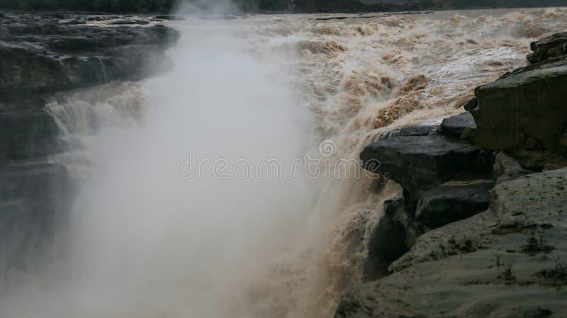 De Waterval van Hukou stock afbeelding