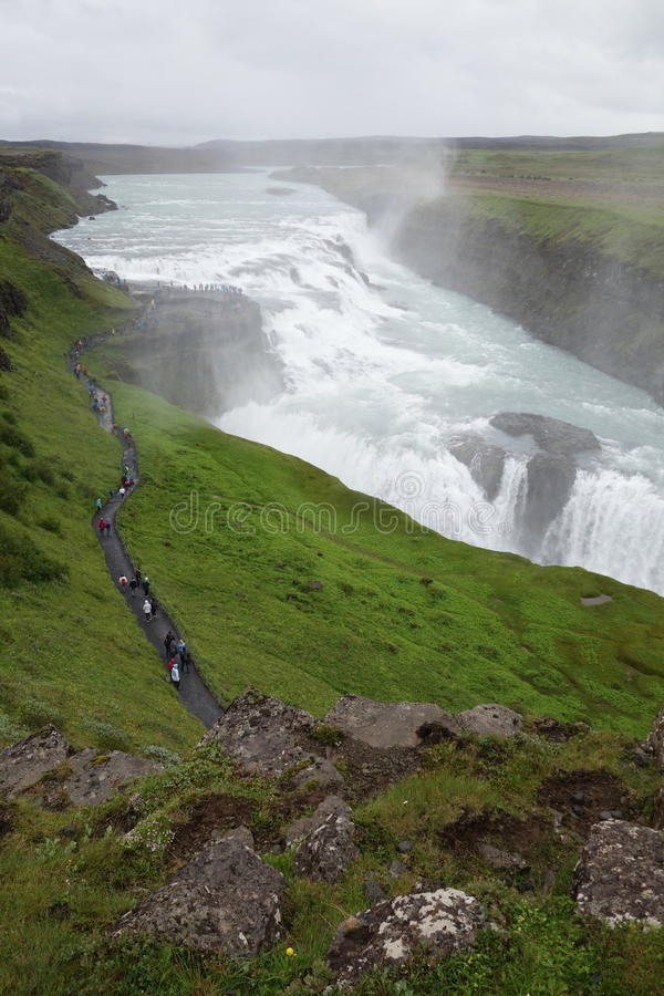 De waterval van IJsland Gullfoss royalty-vrije stock foto's