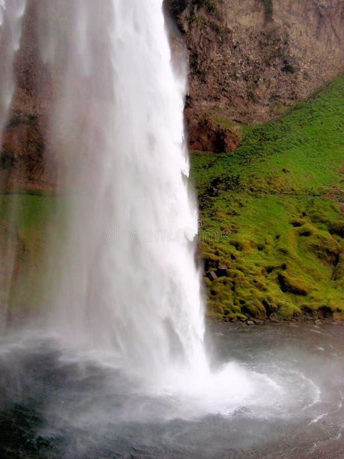 De waterval van IJsland toneel royalty-vrije stock foto's