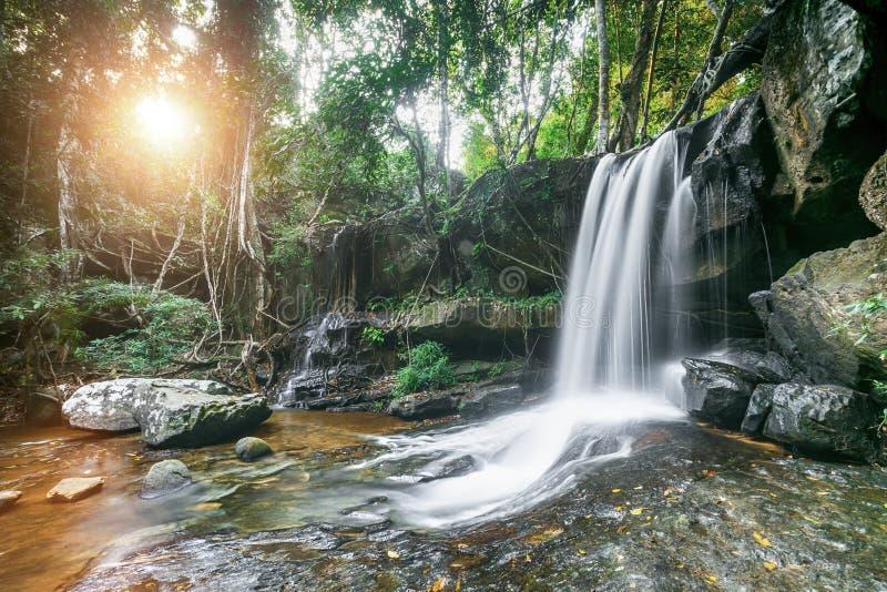 De waterval van Kbalspean stock afbeeldingen