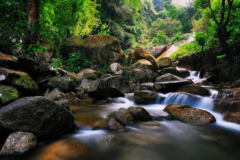 De Waterval van Kerawang van Titi #1 stock fotografie