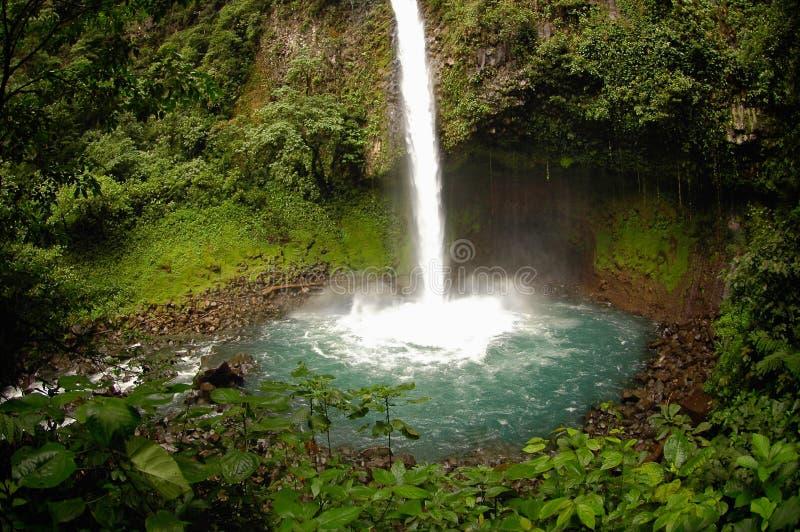 De Waterval van La Fortuna, Costa Rica stock fotografie