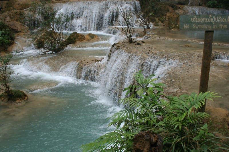 De Waterval van Laos stock afbeelding