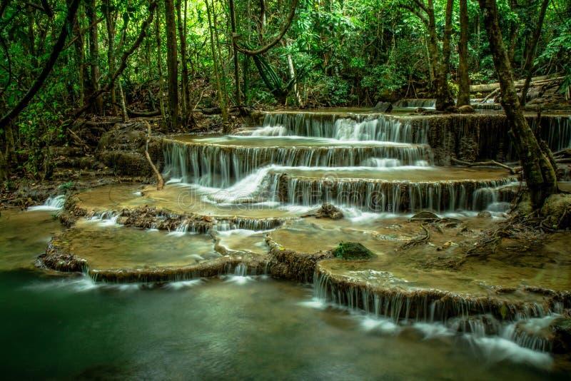 De Waterval van Mae Khamin van Huai royalty-vrije stock foto