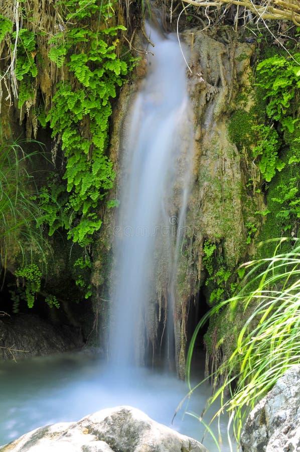 De waterval van Polilimnio, de Peloponnesus, Griekenland royalty-vrije stock afbeeldingen