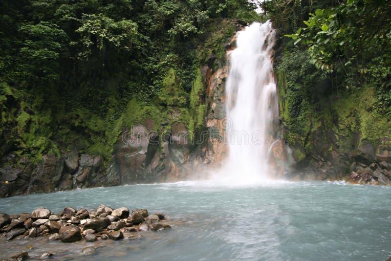 De waterval van Rio Celeste royalty-vrije stock afbeelding