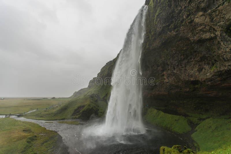De Waterval van Seljalandsfossijsland stock fotografie
