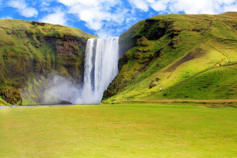 De Waterval van Skogafoss in IJsland royalty-vrije stock foto