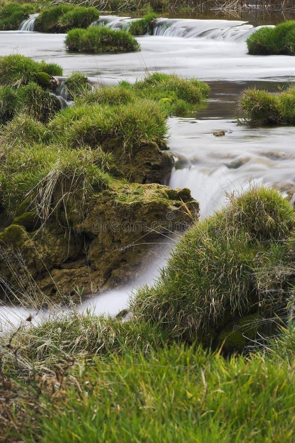 De watervallen Kroatië van Mreznica stock foto