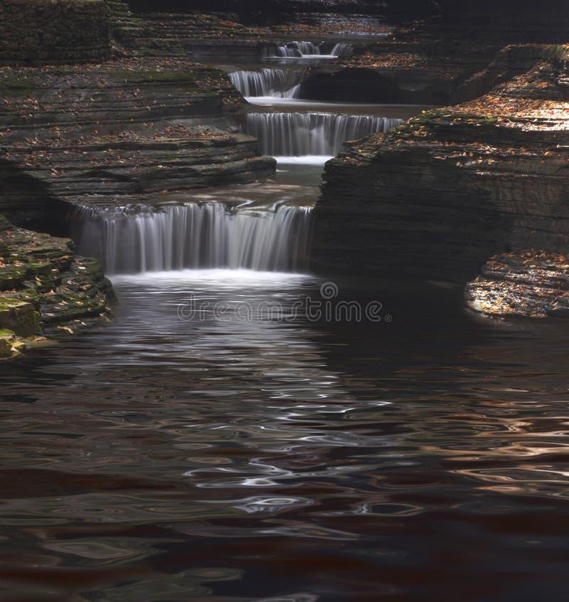 De Watervallen van de kloof stock foto