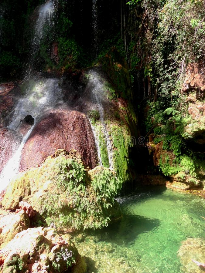 De Watervallen van Gr Nicho stock foto's