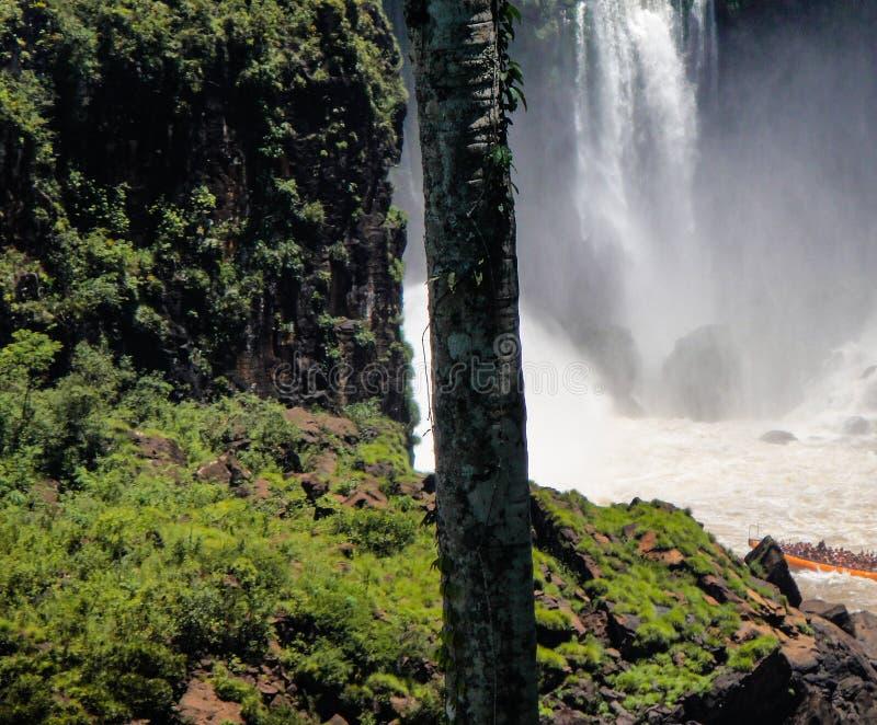 De watervallen van Iguazu in Argentini? stock afbeelding